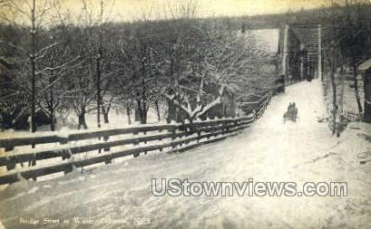 Bridge Street in Winter - Callicoon, New York NY Postcard