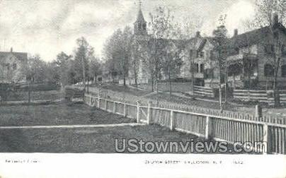 Church Street - Callicoon, New York NY Postcard