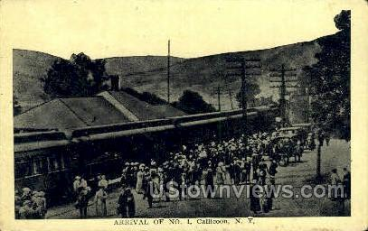 Arrival of No. 1 - Callicoon, New York NY Postcard