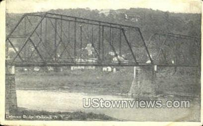 Delaware Bridge - Callicoon, New York NY Postcard