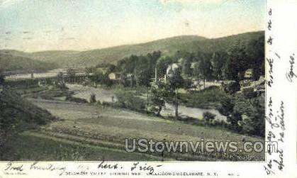 Delaware Valley - Callicoon, New York NY Postcard