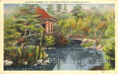 Japanese Gardens - Canandaigua, New York NY Postcard