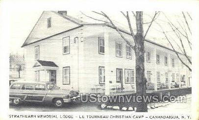Strathearn memorial Lodge - Canandaigua, New York NY Postcard