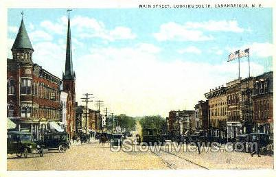 Main Street - Canandaigua, New York NY Postcard