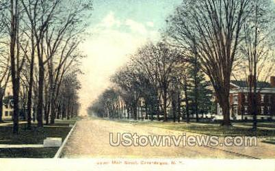 Upper Main Street - Canandaigua, New York NY Postcard