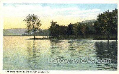 Laphams Point - Canandaigua, New York NY Postcard