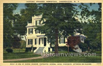 Historic Granger Homestead - Canandaigua, New York NY Postcard