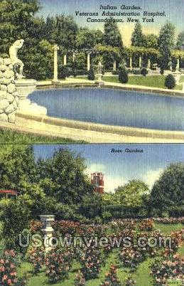 Italian Garden - Canandaigua, New York NY Postcard