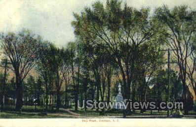 The Park - Canton, New York NY Postcard
