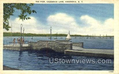 The Pier, Cazenovia Lake - New York NY Postcard