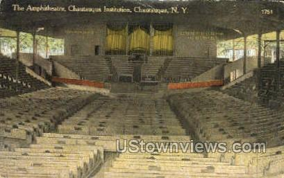 Amphitheatre, Chautauqua Institution - New York NY Postcard