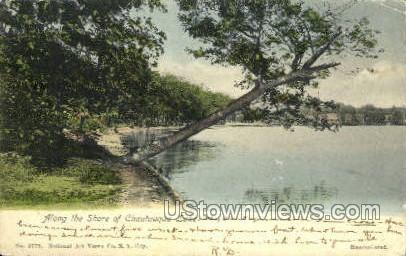 Along the Shore - Chautauqua, New York NY Postcard