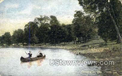 Canoeing - Chautauqua, New York NY Postcard