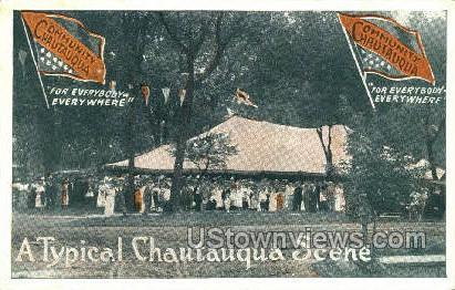 Chautauqua, New York, NY Postcard