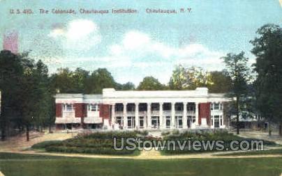 The Colonade, Chautauqua Institution - New York NY Postcard