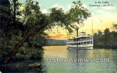 In the Outlet - Chautauqua Lake, New York NY Postcard