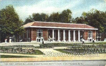 The Post Office Bldg - Chautauqua, New York NY Postcard