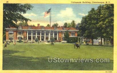 Colonnade Bldg - Chautauqua, New York NY Postcard