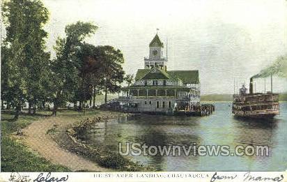 The Steamer Landing - Chautauqua, New York NY Postcard