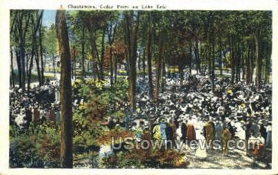 Cedar Park - Chautauqua, New York NY Postcard