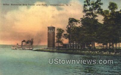 Miller Memorial Bell Tower - Chautauqua, New York NY Postcard