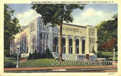 Norton Memorial Hall - Chautauqua, New York NY Postcard