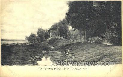 Palestine Park - Chautauqua, New York NY Postcard