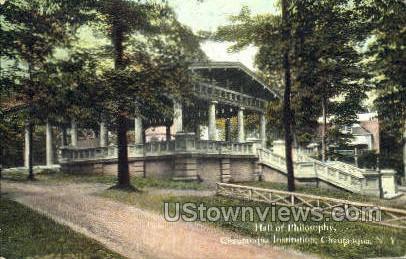 Hall of Philosophy - Chautauqua, New York NY Postcard