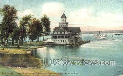The Pier, Chautauqua Institution - New York NY Postcard