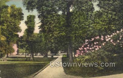 Lake Front Promenade - Chautauqua, New York NY Postcard