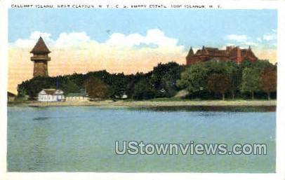 Calumet Island - Clayton, New York NY Postcard