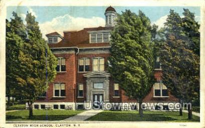 Clayton High School - New York NY Postcard