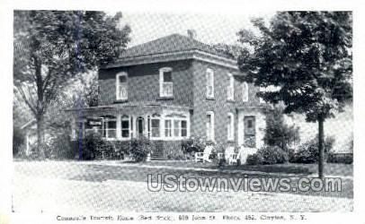 Consaul's Tourists Home - Clayton, New York NY Postcard