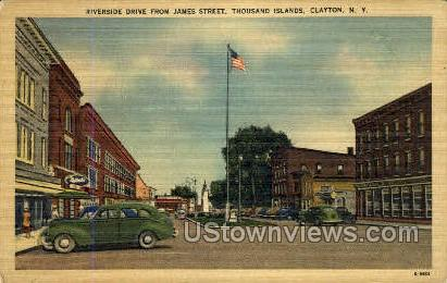 Riverside Drive, Thousand Islands - Clayton, New York NY Postcard