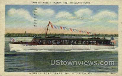 Miss Islander II - Clayton, New York NY Postcard