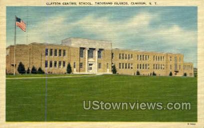 Clayton Central School - New York NY Postcard
