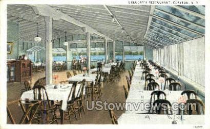 Gregory's Restaurant - Clayton, New York NY Postcard