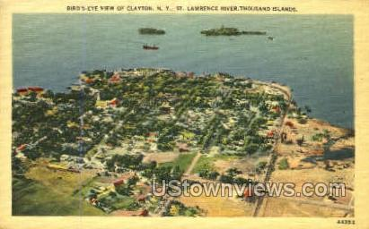 St. Lawrence River - Clayton, New York NY Postcard