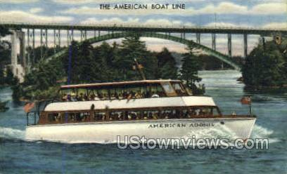 The American Boat Line, Adonis - Clayton, New York NY Postcard