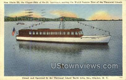 New Gloria III, Clipper Ship - Clayton, New York NY Postcard