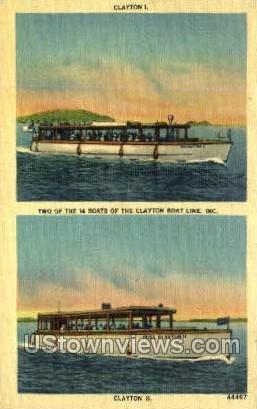 Clayton I & Clayton II - New York NY Postcard