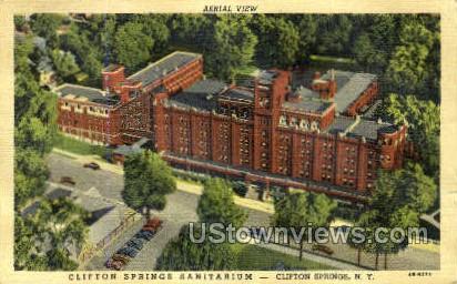 Clifton Springs Sanitarium - New York NY Postcard
