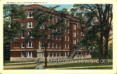 Maxwell Hall - Clifton Springs, New York NY Postcard