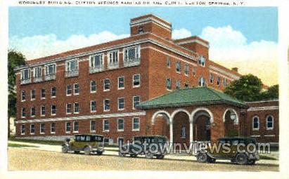 Woodbury Bldg - Clifton Springs, New York NY Postcard