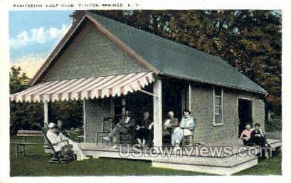 Sanitarium Golf Club - Clifton Springs, New York NY Postcard