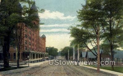Lower Main St. - Clifton Springs, New York NY Postcard