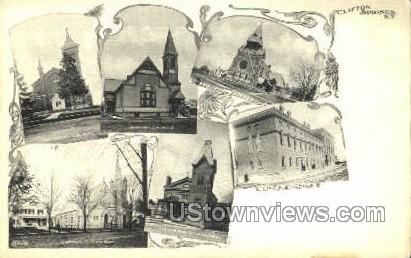 YMCA Bldg - Clifton Springs, New York NY Postcard