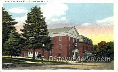 Municipal Bldg - Clifton Springs, New York NY Postcard
