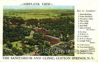 The Sanitarium - Clifton Springs, New York NY Postcard