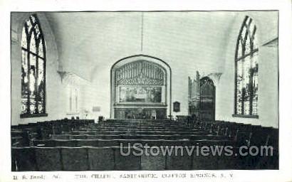 The Chapel Sanitarium - Clifton Springs, New York NY Postcard
